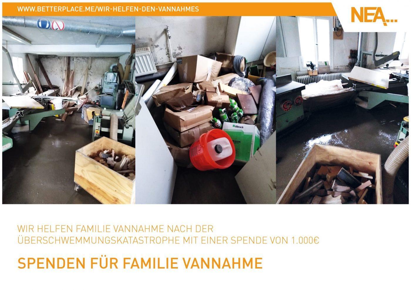 Wir spenden 1000€ an Betroffene der Überschwemmungskatastrophe!