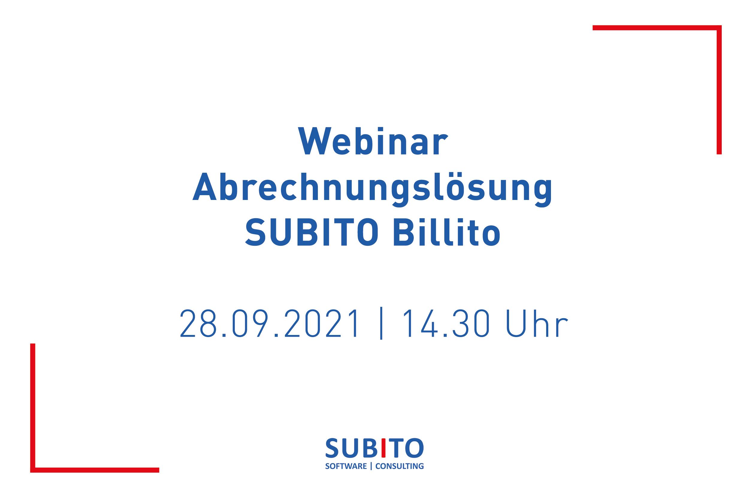 Live-Webinar zu SUBITO Billito am 28.09.2021