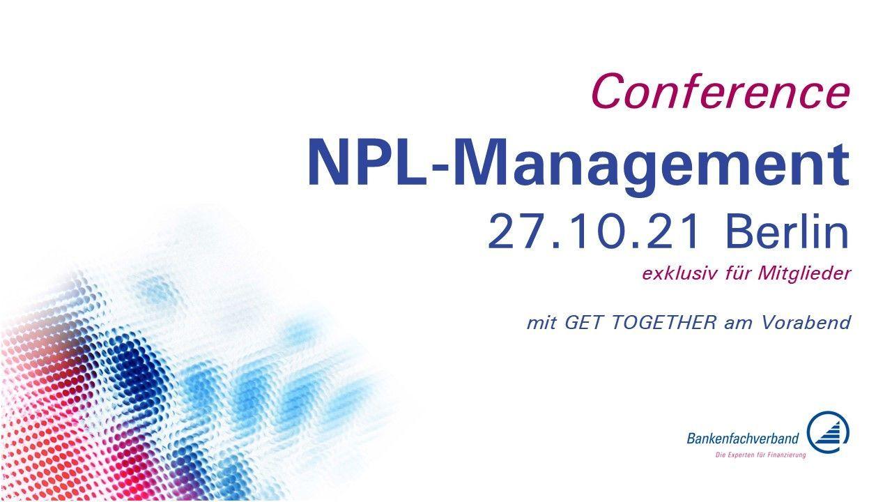 """Conference """"NPL-Management"""" des Bankenfachverbands am 27.10.2021 in Berlin"""
