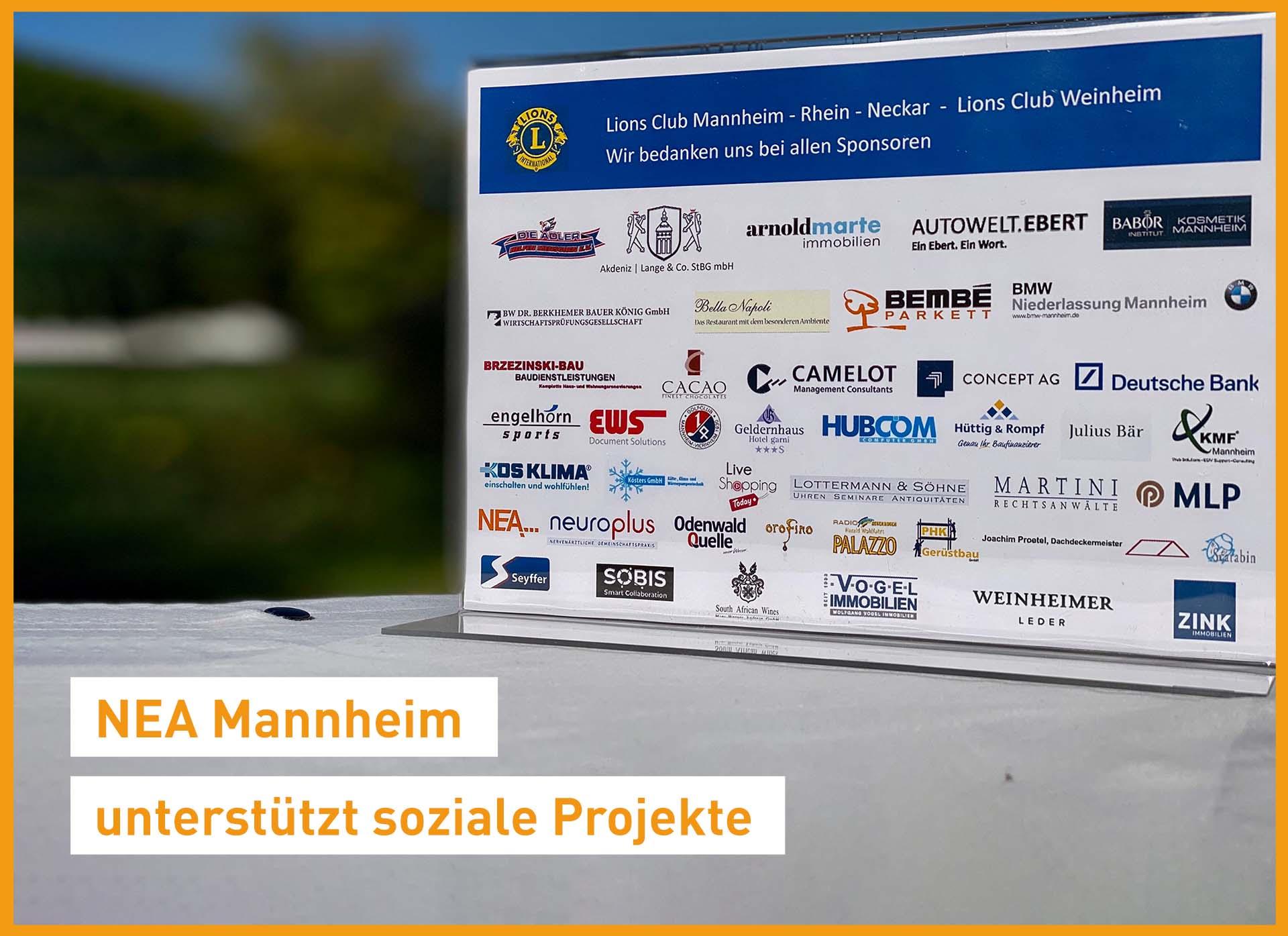 NEA Niederlassung Mannheim unterstützt soziale Projekte